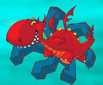 Аватар красный дракончик